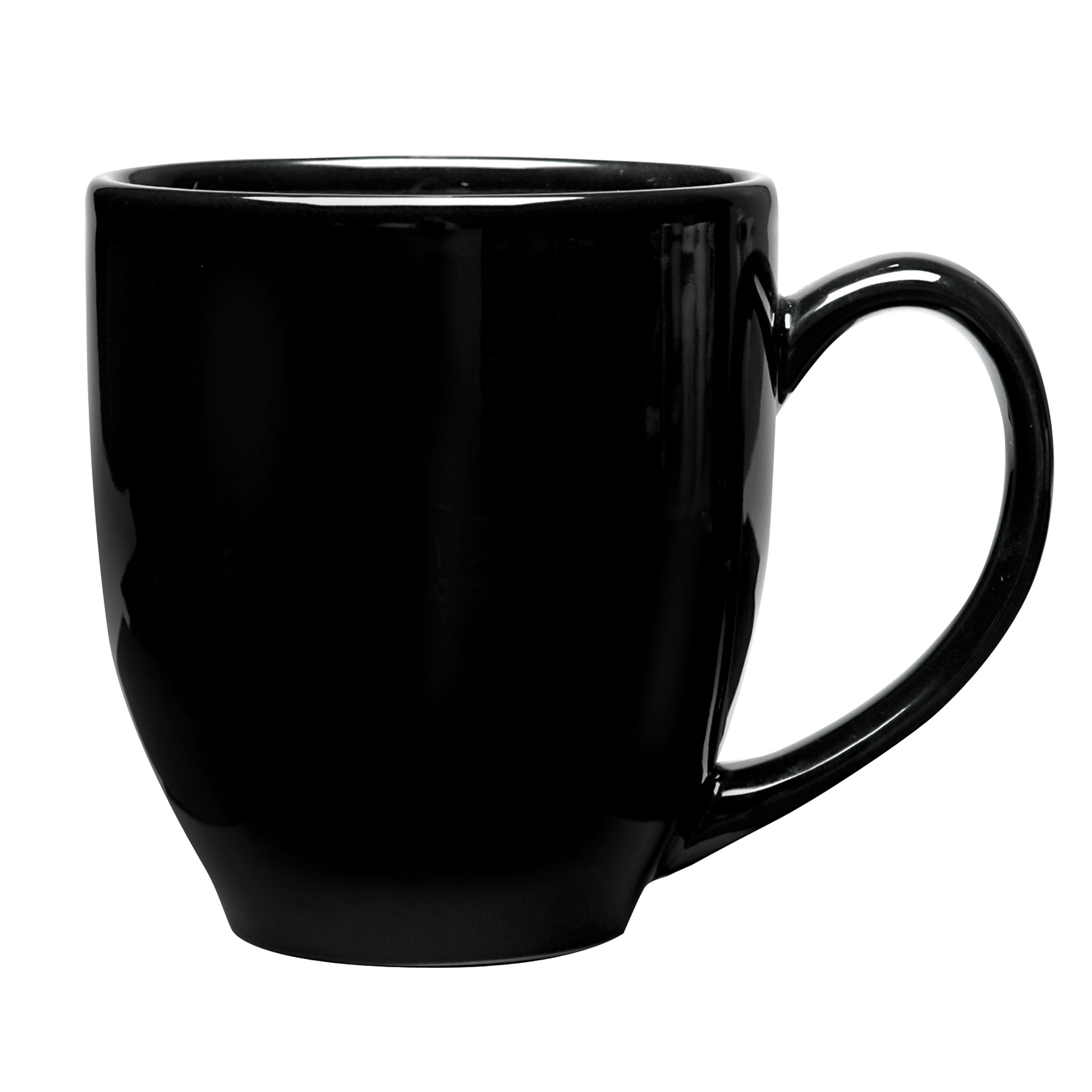 Numo Solid Color Ceramic Bistro Mug 16 Ounce Black