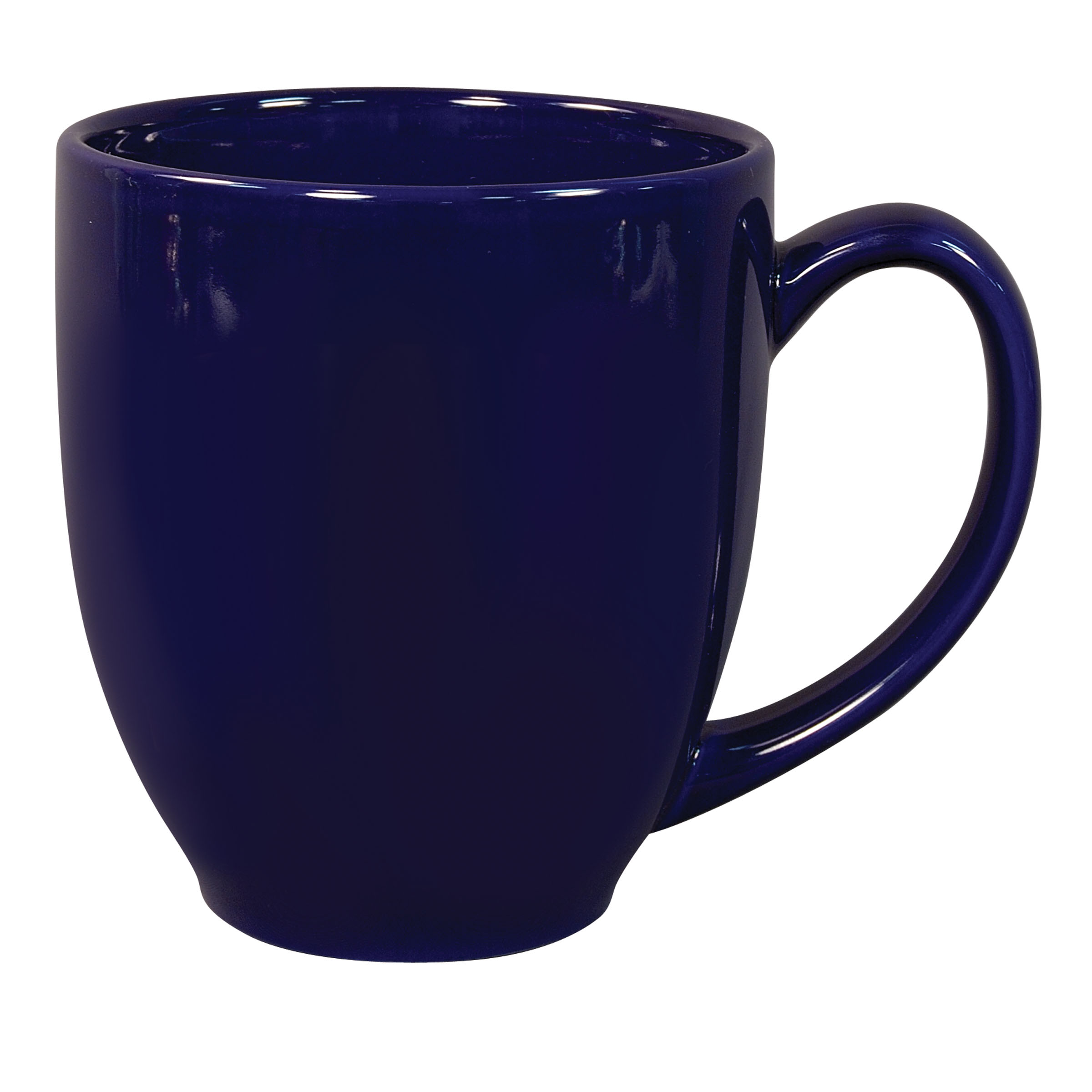 Numo Solid Color Bistro Mug 16 Ounce Cobalt Ceramic