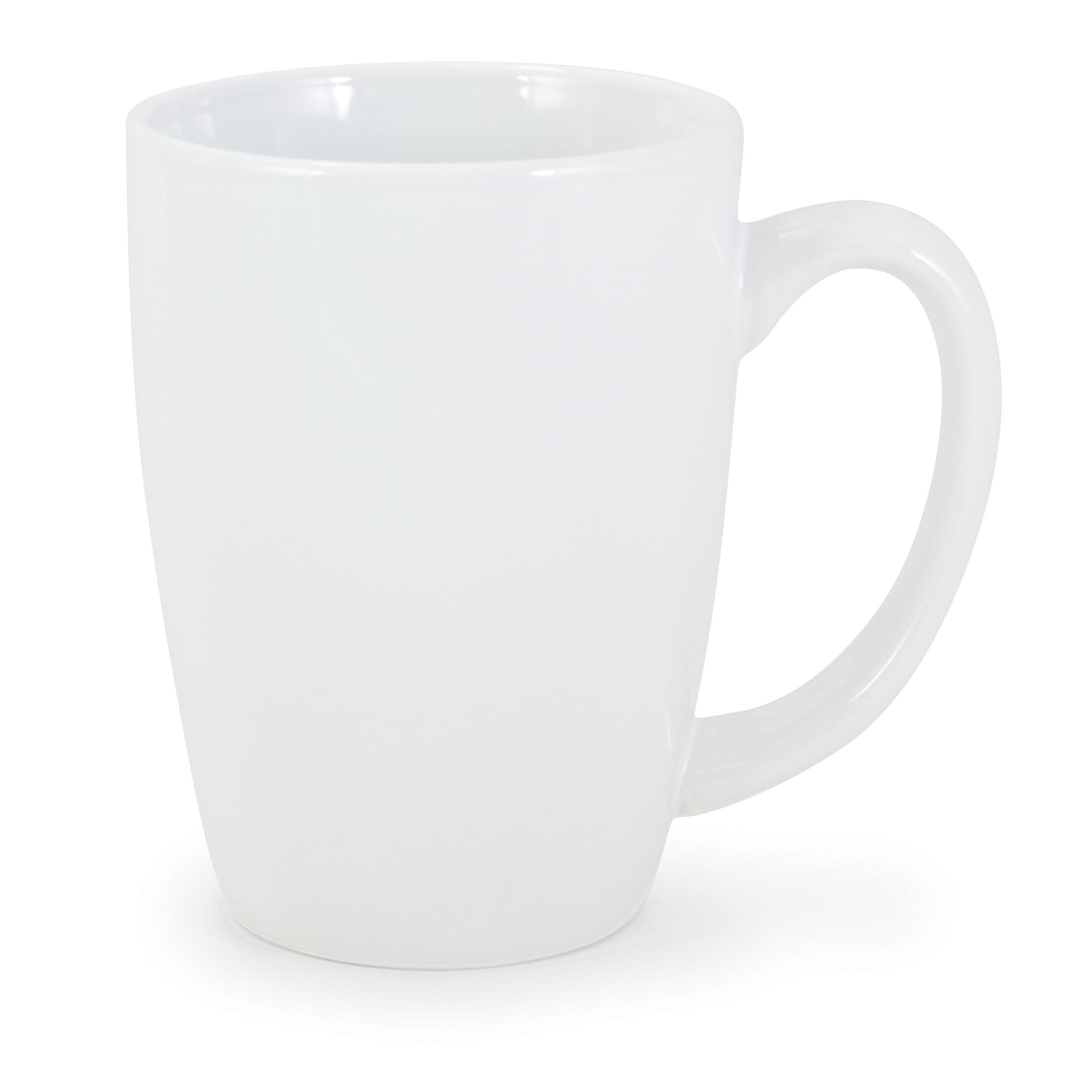 Numo Challenger 14 Ounce White Ceramic Mug