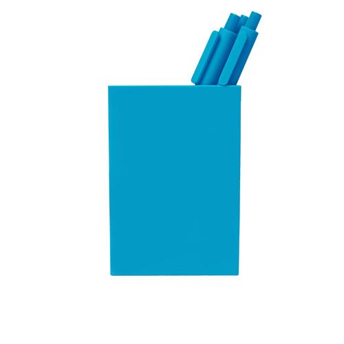 bright-blue pen cup