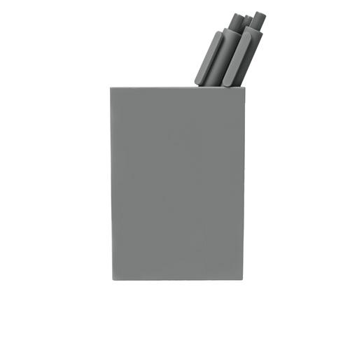 gray pen cup