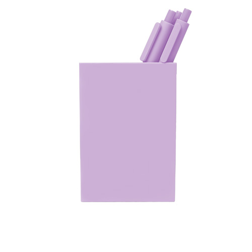 lilac pen cup