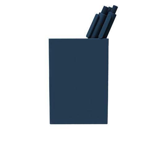 navy pen cup
