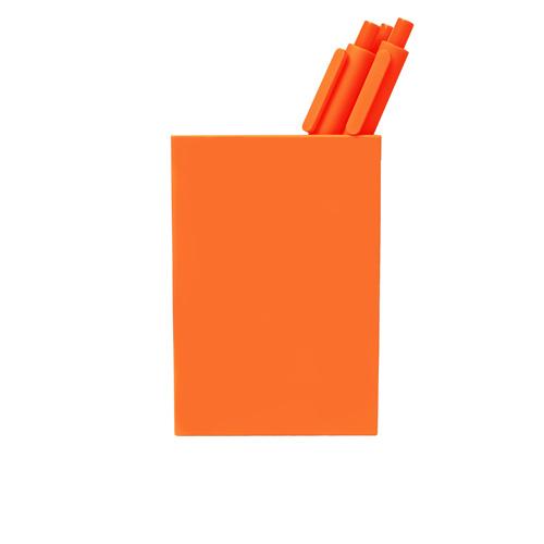 orange pen cup