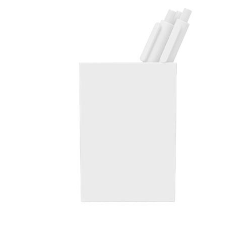 white pen cup