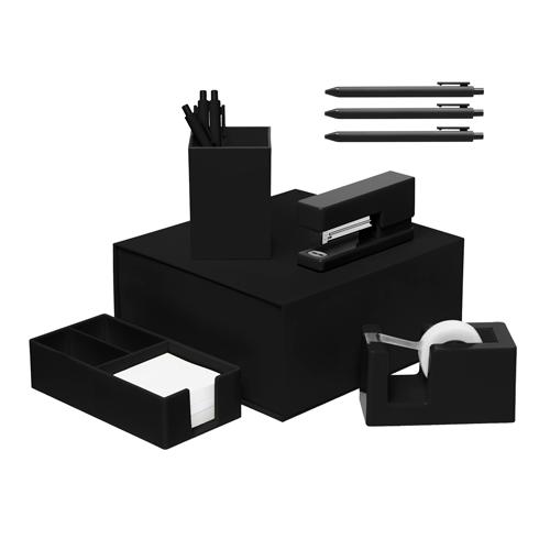 black desk set