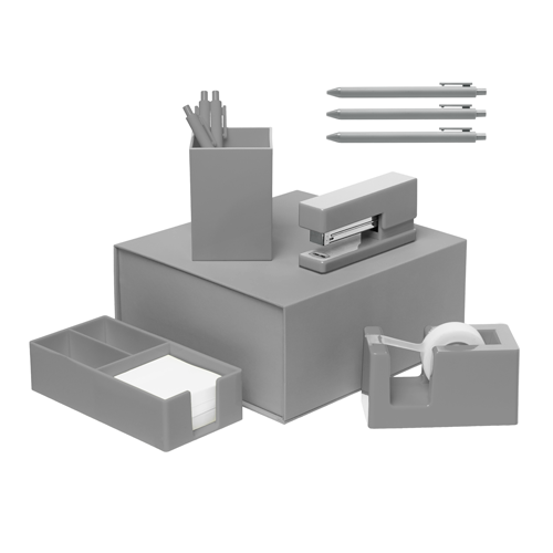 gray desk set