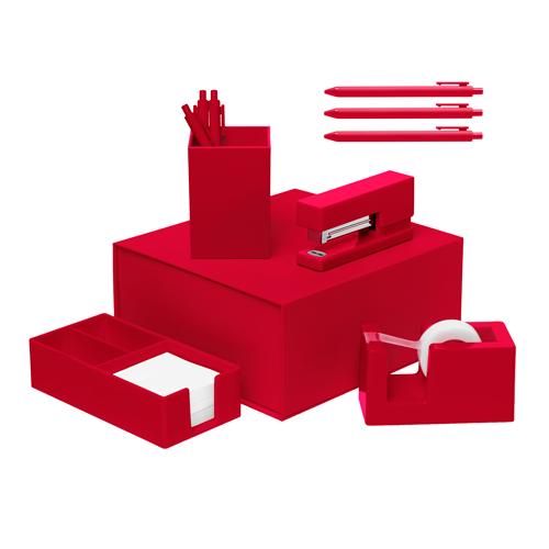 red desk set
