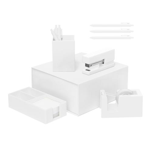 white desk set
