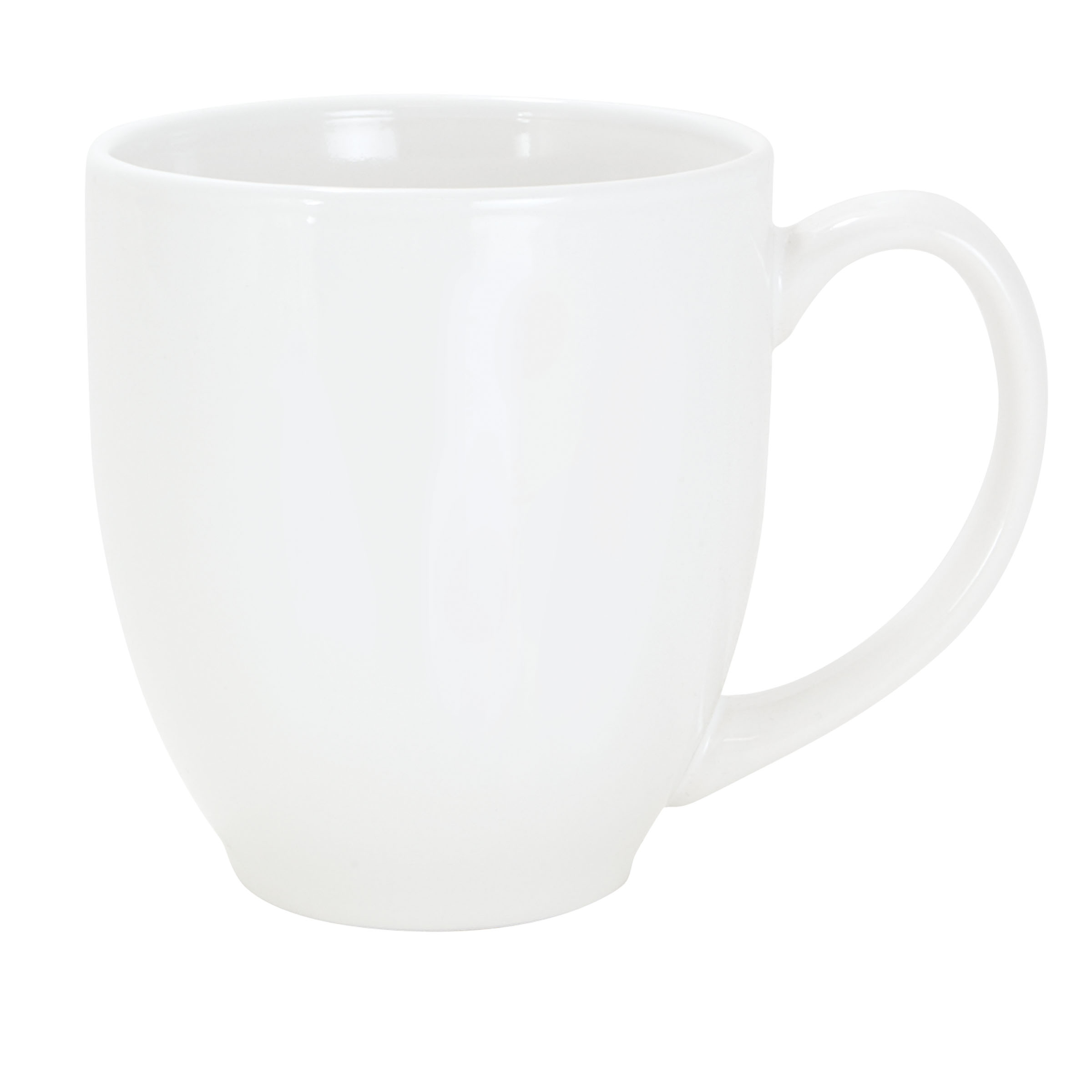 Numo Solid Color Bistro Mug 16 Ounce White Ceramic