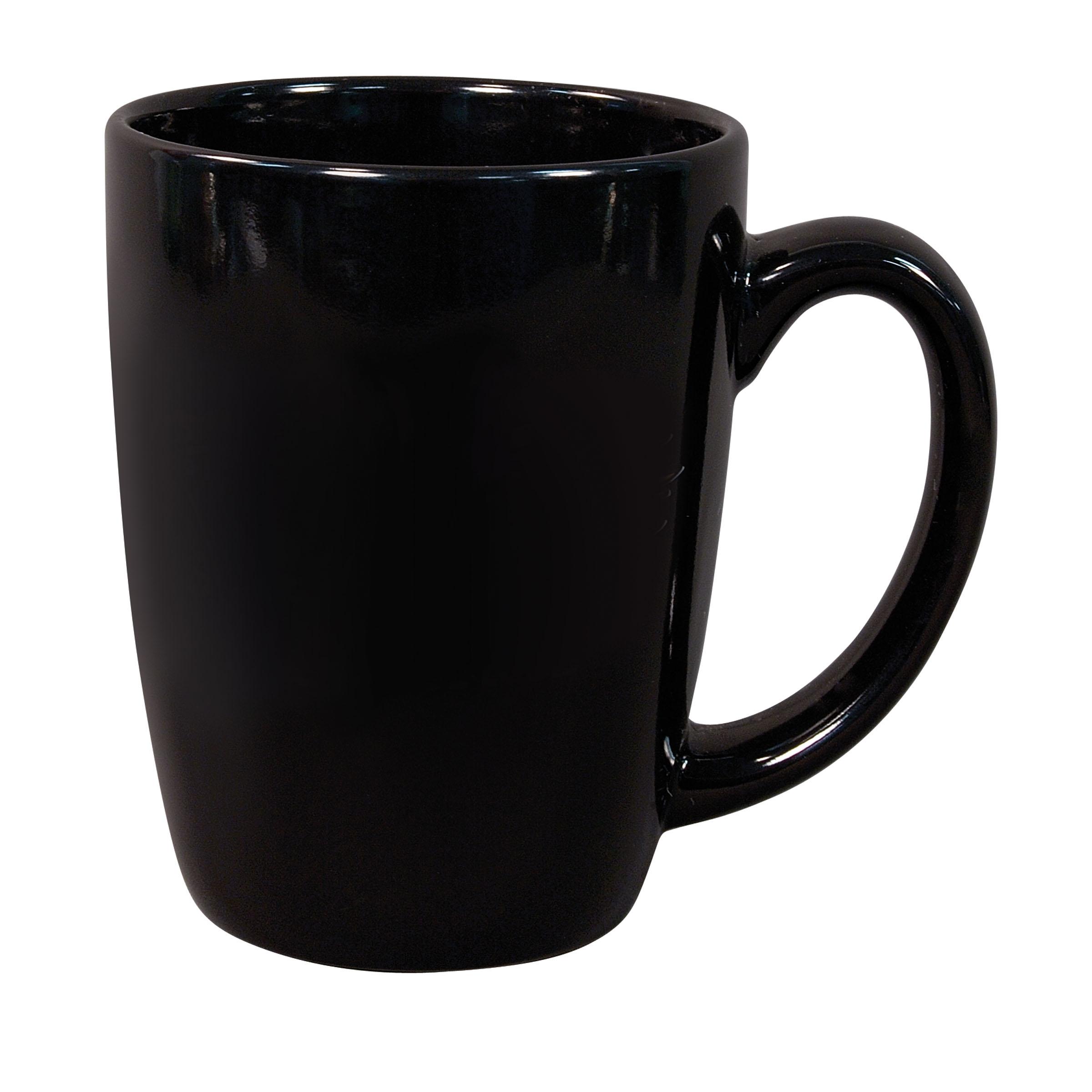 Pottery Mug, 16 oz, handthrown ceramic mug, stoneware ...  |Black Stoneware Pottery Mug
