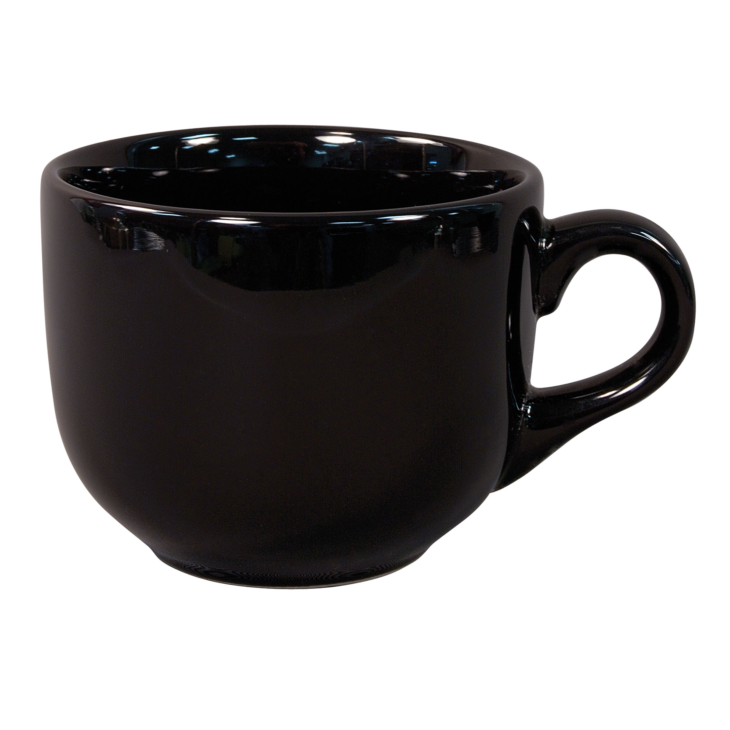 Numo Latte Mug 16 Ounce Black Ceramic