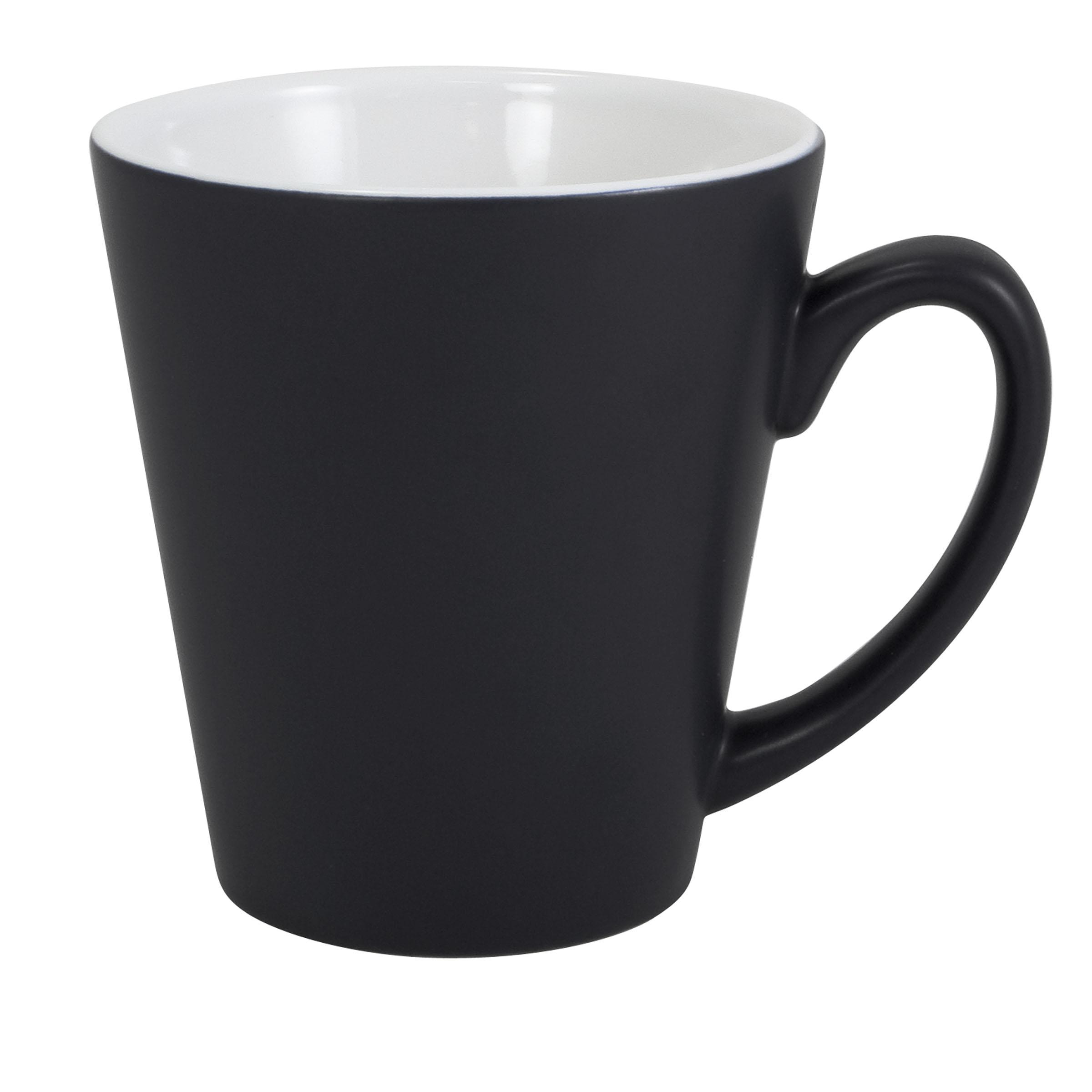 Numo Two Tone Matte Latte 12 Ounces Black White
